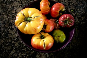 Multi-color heirloom tomatoes