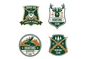 hunting sport club shields set