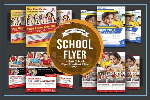 Daycare Flyer Bundle Flyer Templates on Creative Market – Daycare Flyer