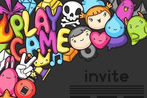 Game kawaii invites.