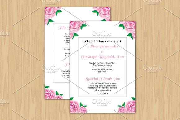 Wedding Fan Program Template Invitations