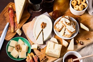 Italian cheese and snacks