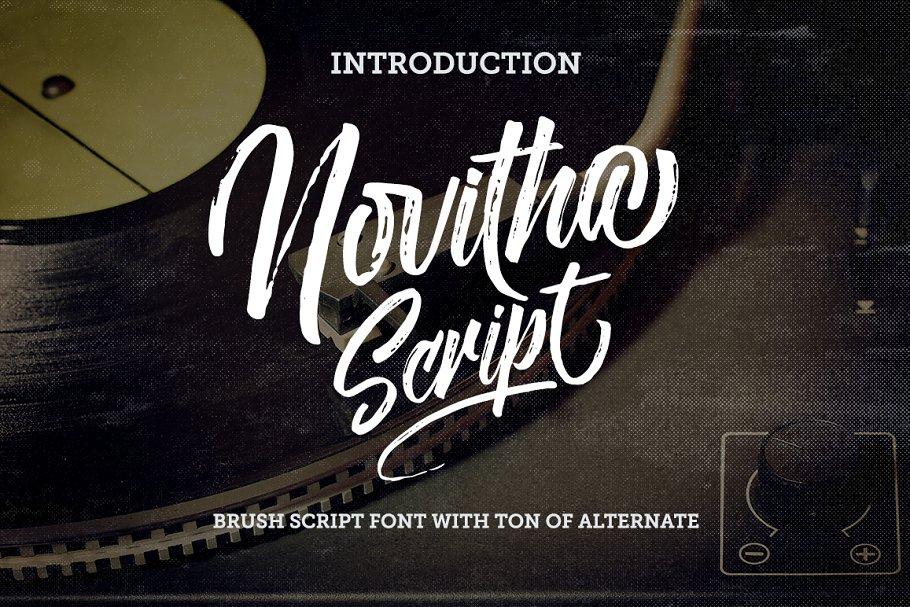 Best Novitha Script Vector