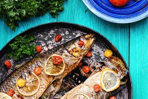 Delicious grilled fish