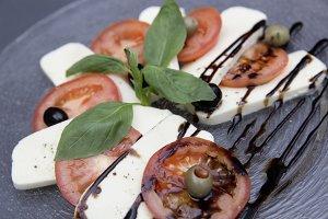 fresh bio italian caprese salad