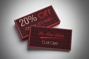 Classy Bordeaux Discount Card