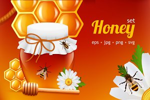 Honey realistic set