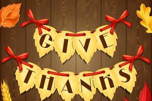 Thanksgiving Day greeting card.
