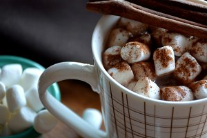 Chocolate with marshmallows