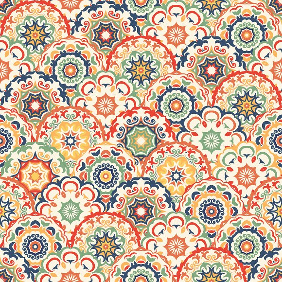 Seamless abstract pattern of circles