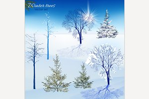 Winter Trees Set