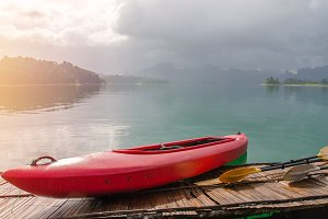 Floating Canoe in Khao Sok Thailand.