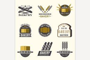Bakery Logos Set