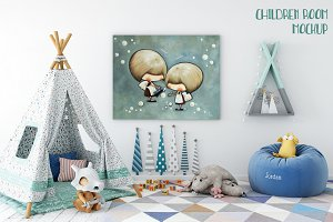 Children room mockup