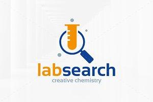 Lab Search Logo Template