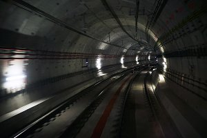Underground tunnell with two tracks