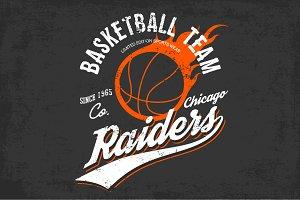Basketball team logo or sign