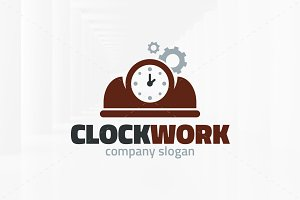 Clock Work Logo Template