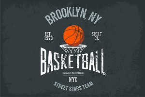 Streetball or urban sport team logo