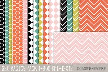 Geo Basics Pk. 1 Digital Papers