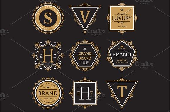 Set of brand or logo