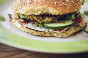 homemade veggie burger