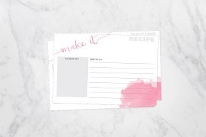 50% Off-Watercolor Recipe Cards 4x6