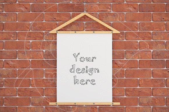 """Poster mockup 8x10"""" brick wall"""