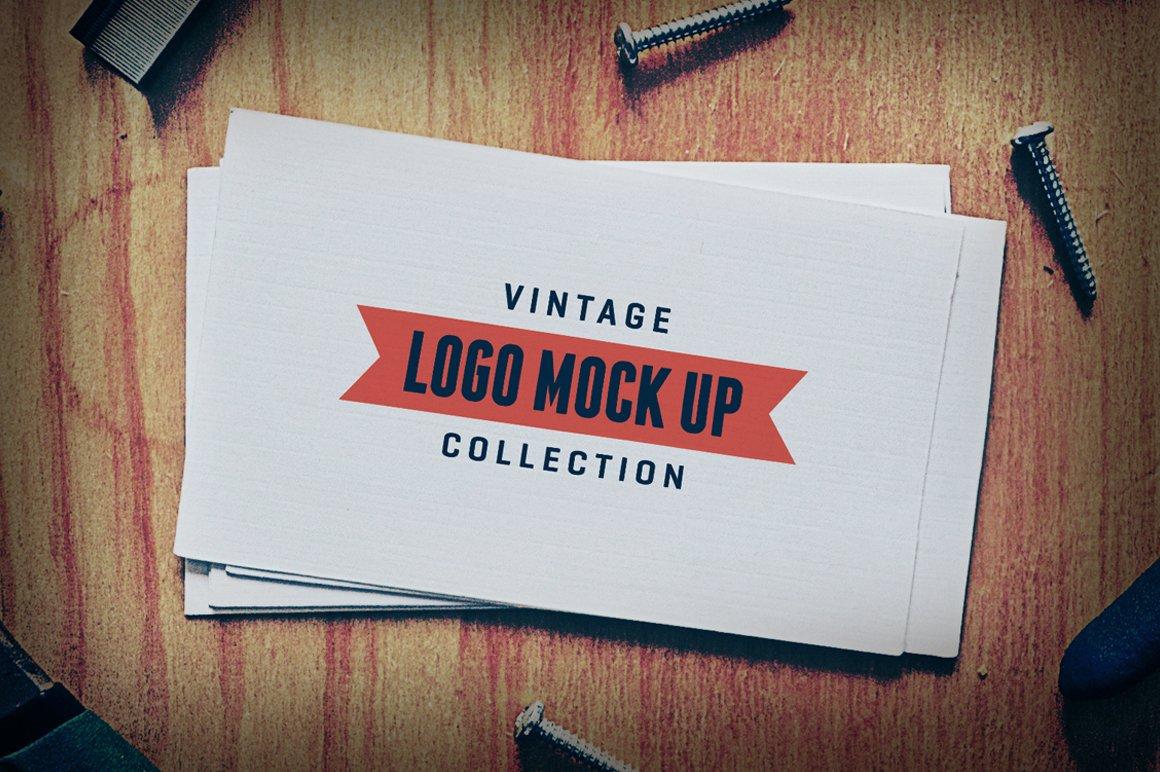 7 Vintage Logo Mock Up Templates Branding Mockups Creative Market