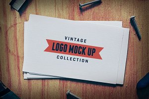 7 Vintage Logo Mock Up Templates