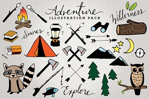 Adventure & Camping Illustration Set
