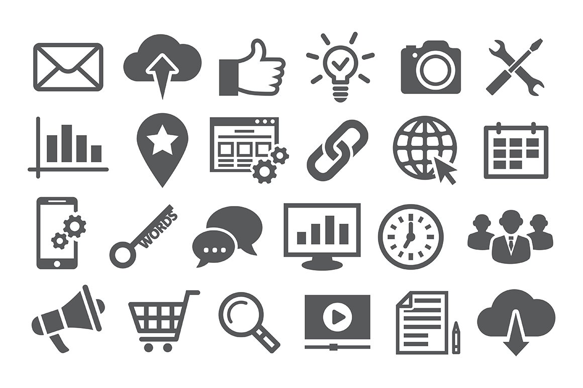 Search Engine Optimization icons ~ Icons ~ Creative Market