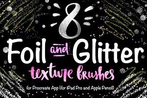 8 Foil & Glitter Procreate-3 Brushes