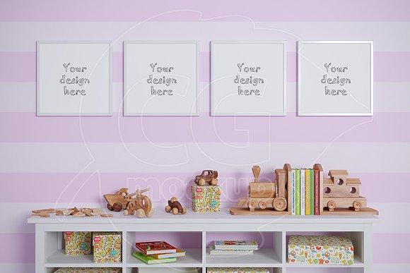 Baby Room Mockups Set Of 4 Frame Product Mockups Creative Market
