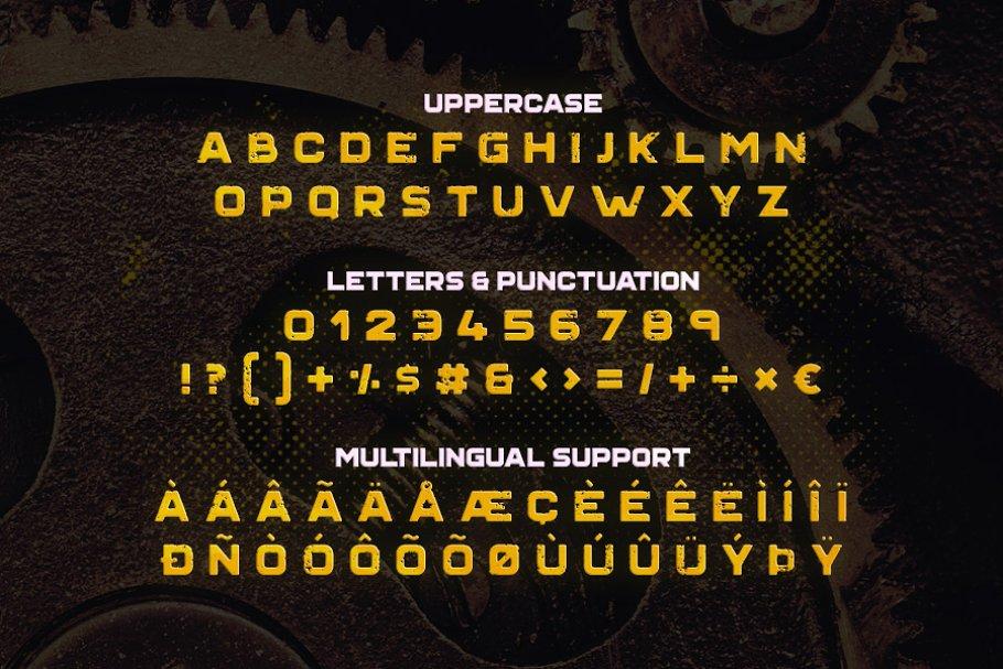 Best Grind Typeface Vector