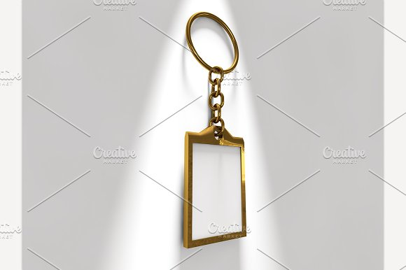 Keyring with Blank Insert