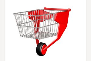 Shopping Trolley with One Wheel
