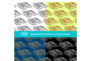 Seamless pattern a pair of casual sh