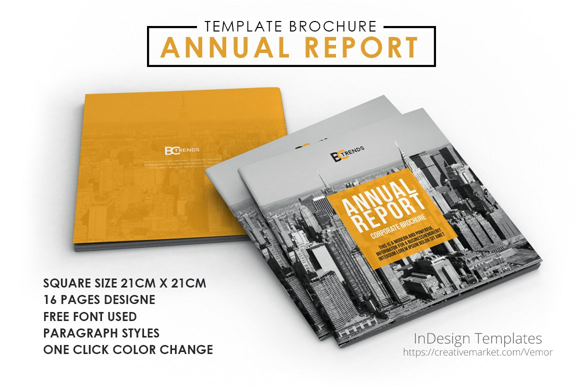 2017 Annual Report Brochure ~ Brochure Templates ~ Creative Market