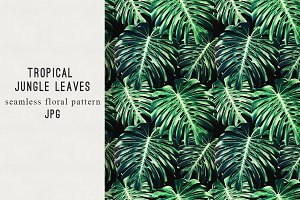 Jungle leaves seamless pattern