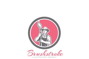 Brushstroke Illustrator Agency Logo