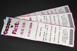 Multipurpose Vertical Event Ticket