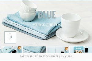 Baby blue styled photos - ON SALE!