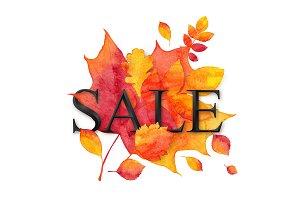 EPS+JPG+PNG watercolor autumn SALE