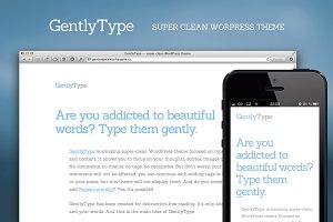GentlyType v1.1 — WordPress Theme
