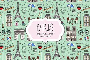 Paris Illustrations & Patterns