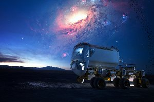 Planet rover. Elements of this image furnished by NASA