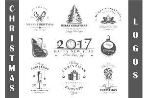 9 Christmas Logos Templates