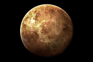 Venus - High resolution 3D images presents planets of the solar system. This image elements furnished by NASA