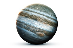 Jupiter - High resolution 3D images presents planets of the solar system. This image elements furnished by NASA